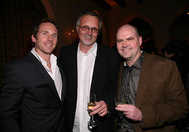 Kirk Baxter, Lee Smith and Ben Snow at the Australian Academy Award Nominee and the Australians in Film Heath Ledger Scholarship Reception.